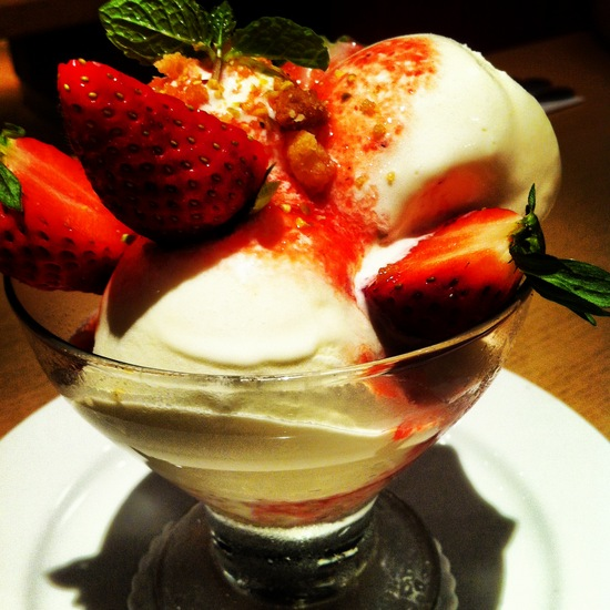 Strawberry coupe cheesecake @ Bakerzin