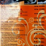 Kampung Daun menu page 3