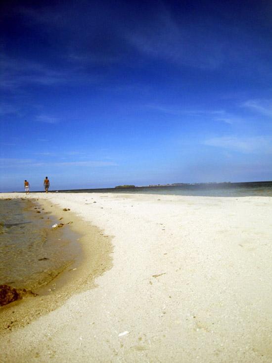 Pantai yang indah di Kepulauan Seribu