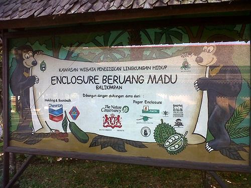 Konservasi Beruang Madu dibangun dengan dukungan dana dari beberapa instansi asing