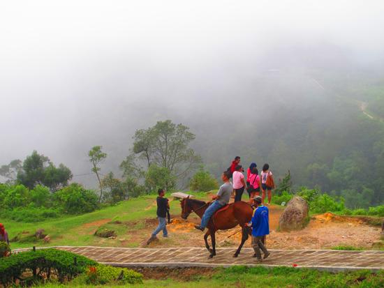 Candi Gedong Songo - naik kuda atau jalan kaki