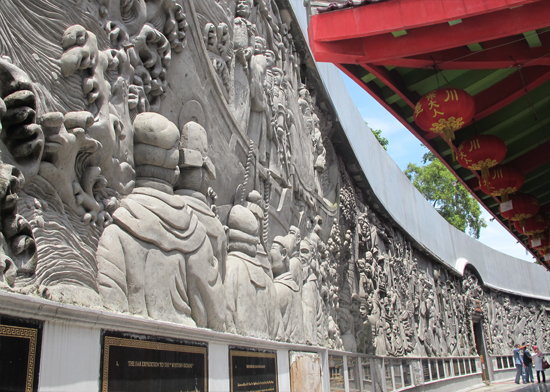 Sam Poo Kong - Relief kisah perjalanan Cheng Ho