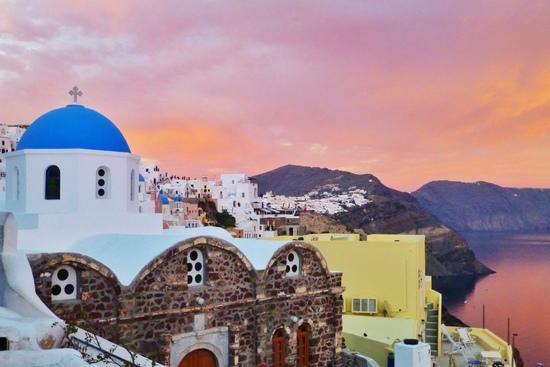 Gereja Biru - ikon di Santorini
