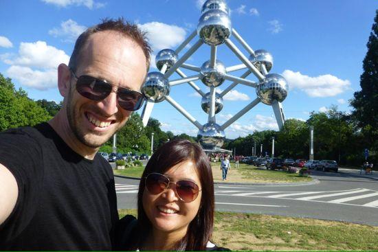 Mampir ke Atomium di Brussels