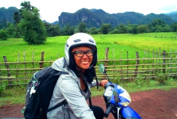 Just me, the landscape, my scooter (and a selfie stick =P) - Thakhek Loop