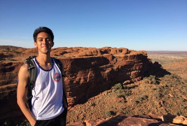 Daniel Giovanni di Kings Canyon, Northern Territoty
