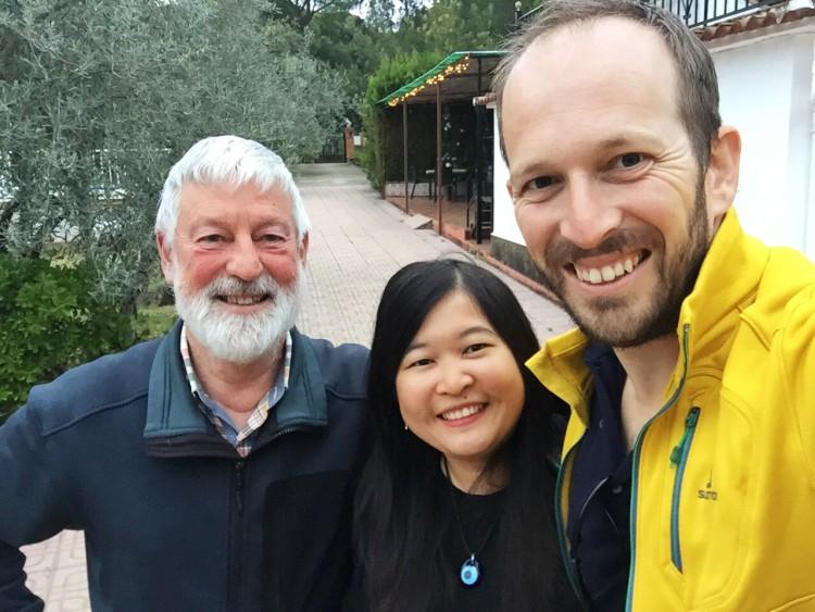 Bersama Jan, pemilik albergue di Cerro Muriano